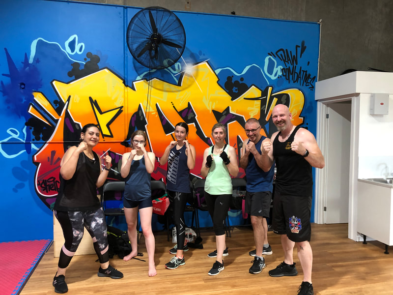 Kickboxing session, Raw Life Australia, 2020